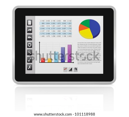 one tablet pc with a buttons