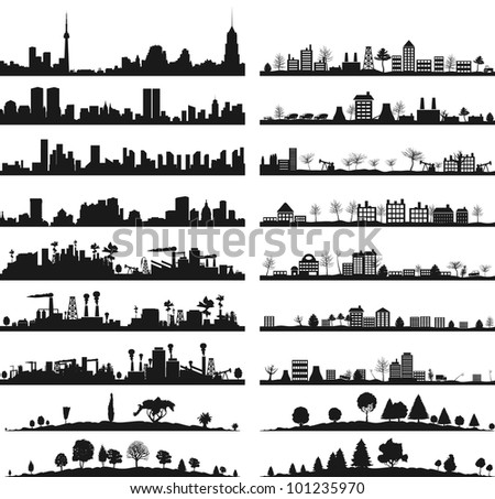 collection of city landscapes