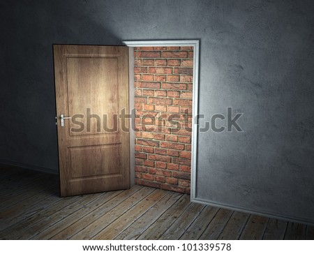 a brick wall blocking the
