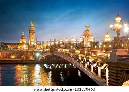 alexandre 3 bridge   paris