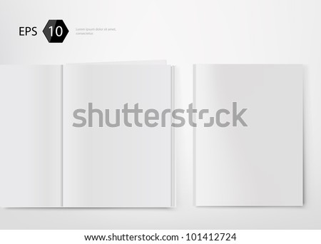 vector illustration of magazine