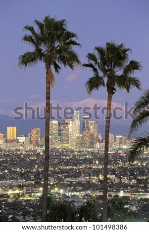 this is the los angeles skyline