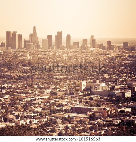 the city of los angeles as seen