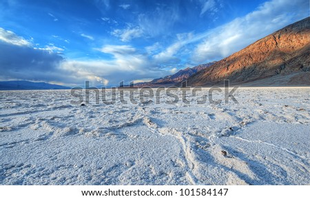 badwater salt lake at death