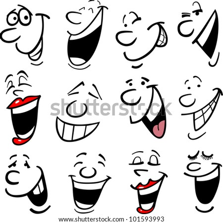 cartoon faces and emotions for