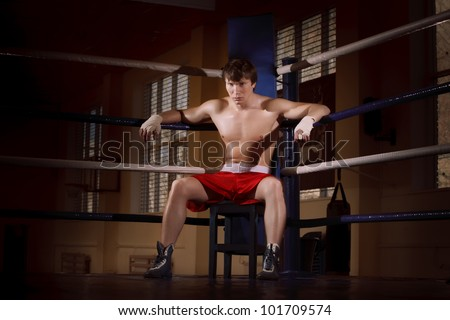 boxer fighter on the ring