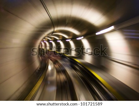 going trough the underground