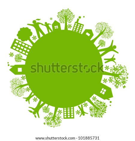 green eco earth  isolated on