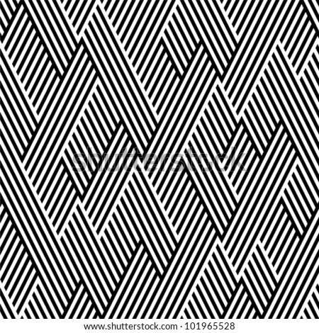 pattern in zigzag with line
