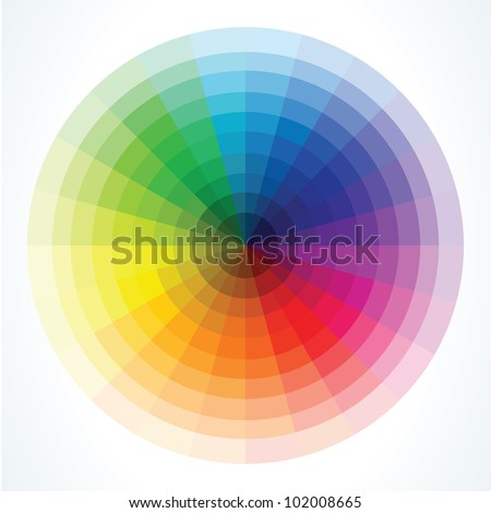 color wheels vector