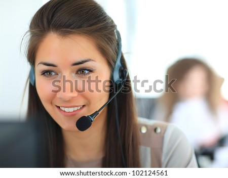 female customer support