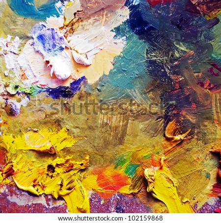 art palette background