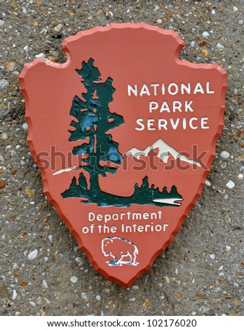 us national park service sign