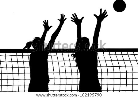 volleyball two women and ball