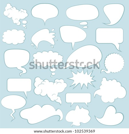 various comics speech balloons