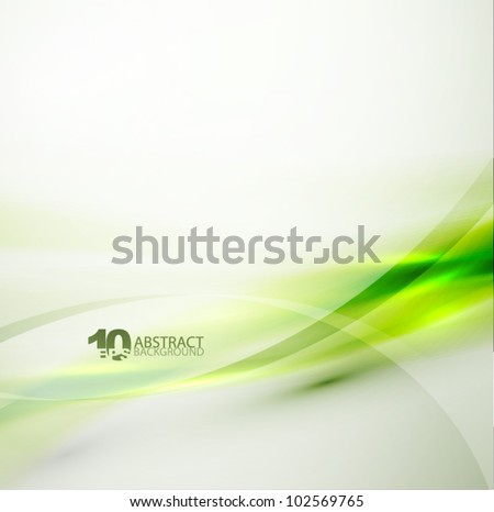 vector smooth green wave