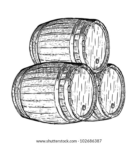 Vector Download   187  engraving wine beer barrelWhiskey Barrel Drawing