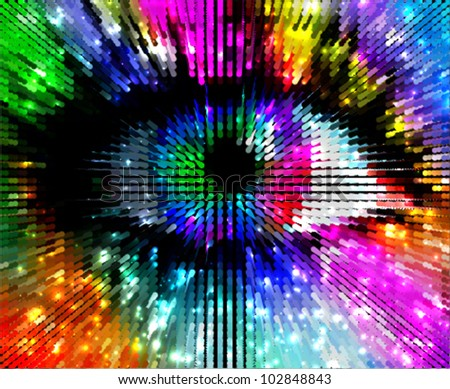 artistic colorful eye  abstract