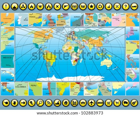 business world map kit