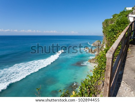 uluwatu coastline with