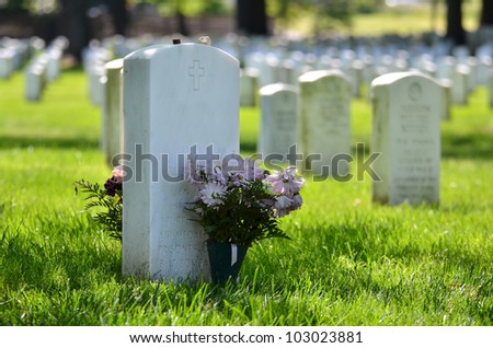headstones in arlington