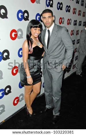 nikki manaj and drake at the gq