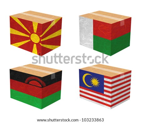 nation flag box recycled paper