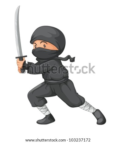 illustration of a ninja with