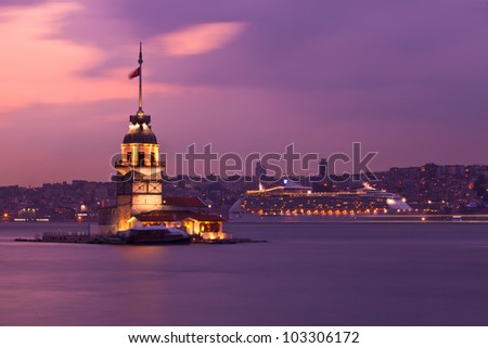 maiden tower at the istanbul