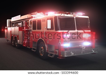 fire truck with lights  part of