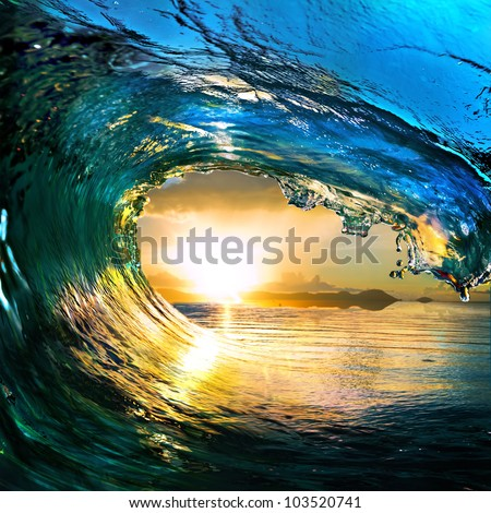 rough colored ocean wave