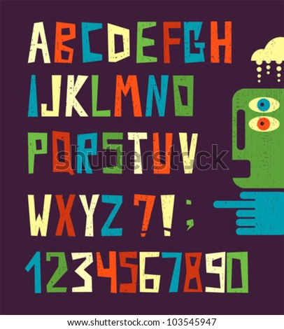 funny alphabet letters with