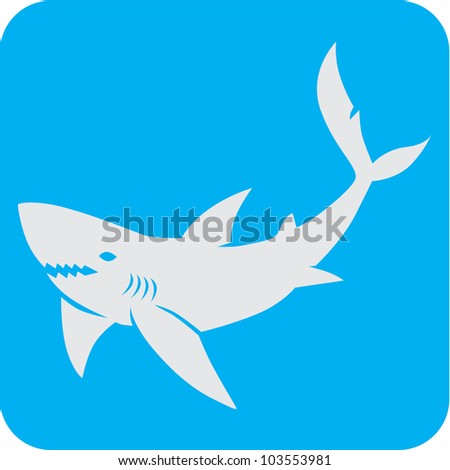 creative shark icon