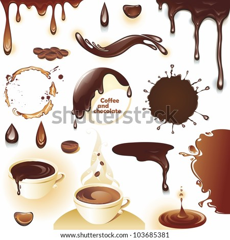 coffee and chocolate set of