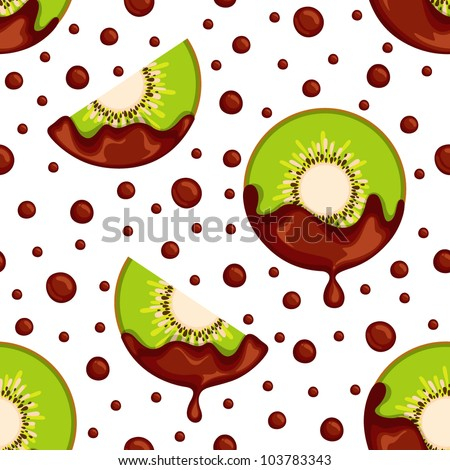seamless chocolate kiwi pattern