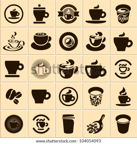 coffee cup set tea cup vector