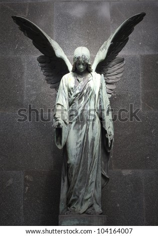 sculpture of an angel with