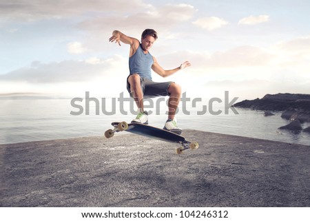 young man skateboarding on a