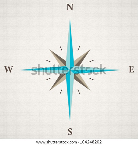 vector oldstyle wind rose