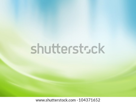 abstract green and blue
