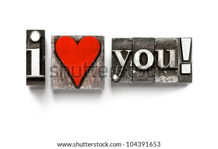 i love you photographed using
