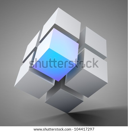 3d vector design element