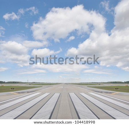 airport runway beautiful blue