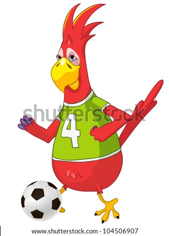 cartoon character funny parrot