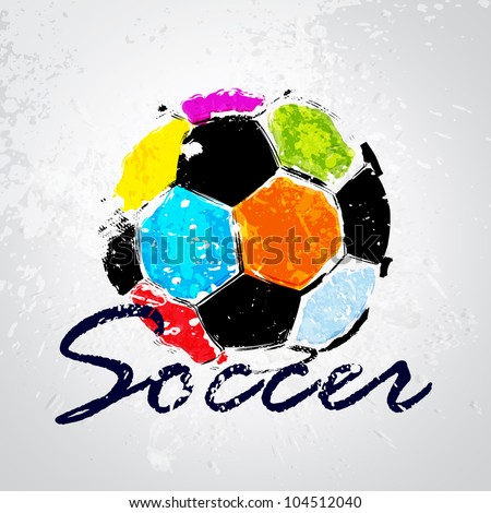 vector grunge color full soccer