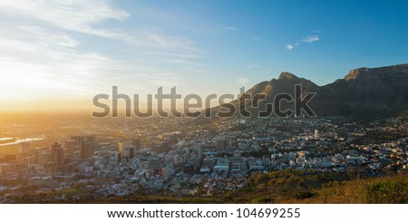 summer panorama of dawn in the