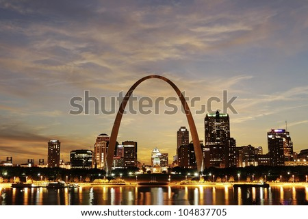 city of st louis downtown with