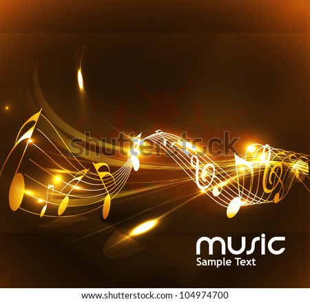 abstract music notes design for