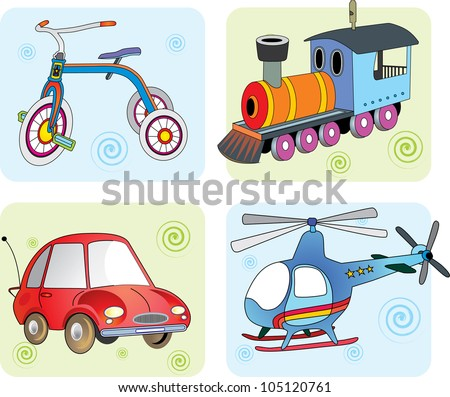 vector illustration transport