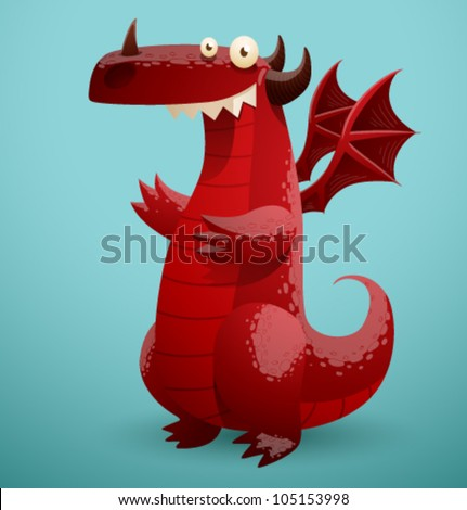 vector funny dragon 2